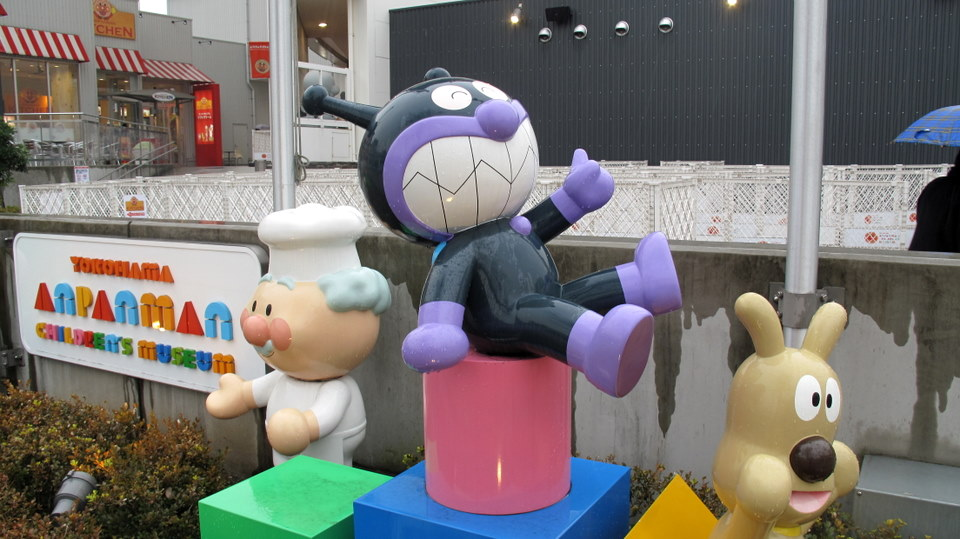 Characters outside the Anpanman museum