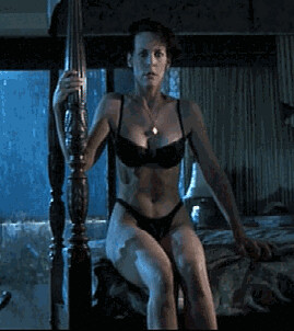 Jamie lee curtis strip true lies