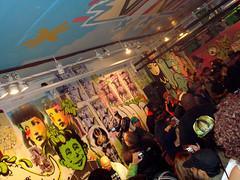 Afrika Bambaataa (Darkclouds Archive) Tags: show street new york nyc art st work graffiti do artist gallery manhattan soho exhibition combine greene 112 royce darkclouds bannon darkcloud 32609