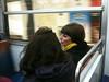 Echarpe jaune Ligne 10 (terzoorso) Tags: paris colors yellow underground metro candid métro snapshot tube snapshots candidphotography parisunderground métroparisien
