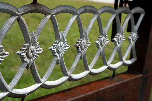 Iron work on the side gate