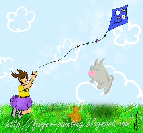 kite flying with company