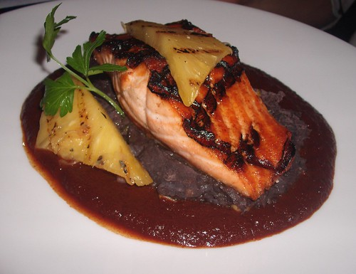 Salmon with Grilled Pineapple