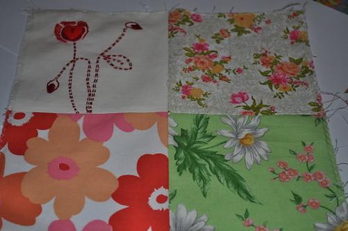 65 Roses quilt block