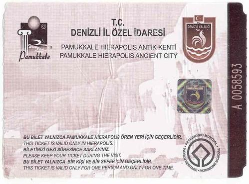 Bilhete de Pamukkale-Hierápolis