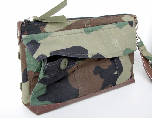 recycled mil spec clutch wristlet