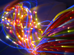 22/365 - Bokeh at work...  (Explore #10) (catcat78) Tags: blue lights darkness bokeh uv explore fibreoptics sensoryroom sensory 22365 catcat78 220110