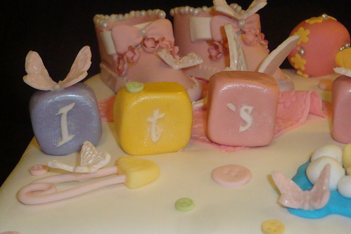 Cute Cake Ideas Girls. 2nd Baby Shower Cake (girl)