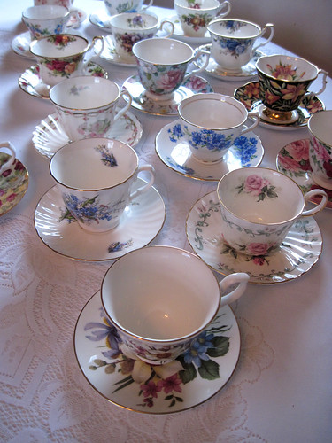 Tea cups waiting to be used