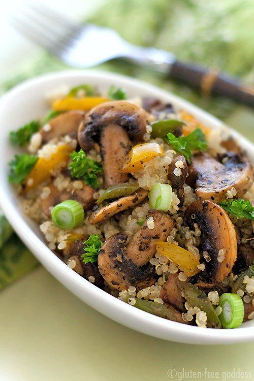 Quinoa Mushroom Pilaf, Quinoa Mushroom Pilaf recipe, Quinoa Mushroom ...