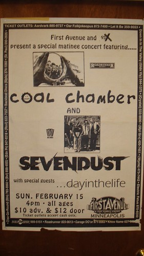 02/15/98 Coal Chamber/Sevendust/Day In The Life @ Minneapolis, MN (Poster)