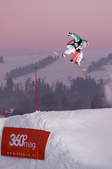 jakub honcz (adam chrabaszcz) Tags: sunset sky snow high jump dusk board air contest snowboard grab bigair kamel burton biga biakatatrzaska canon85 pocketwizard sunpak555 canon40d adamchrabszcz jakubhoncz 360mag oscyp