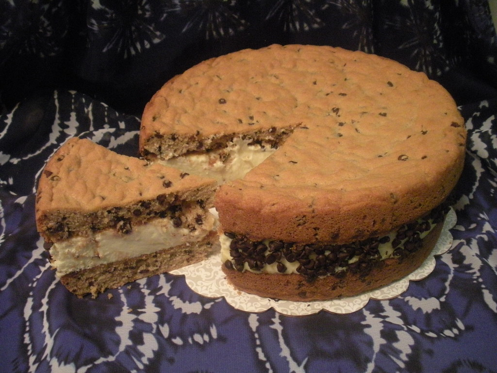 Chocolate Chip Cookie Sandwich Cheesecake by Wolfbay Cafe