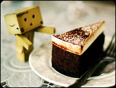 NERD and Chocolate Cake@Vivi (moobelle*) Tags: nerd cake amazon geek chocolate yotsuba danbo revoltech danboard