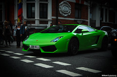 Lamborghini Gallardo LP560-4 (Willem Rodenburg) Tags: black green london car photoshop italian nikon united engine kingdom 1855 lamborghini coupe supercar v10 gallardo willem lightroom sportcar d40 hypercar rodenburg lp5604