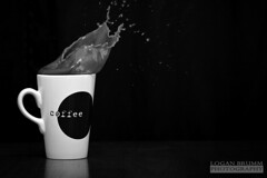 Caffeine Rush. (Logan Brumm Photography and Design) Tags: arizona white snow black coffee digital canon campus shower photography rebel photo spring university action flash iso stop 1200 100 peaks logan splash caffeine northern f28 semester strobe nau brumm meteorshower meteror xti pho181 lbrumm lbrummphoto loganbrumm