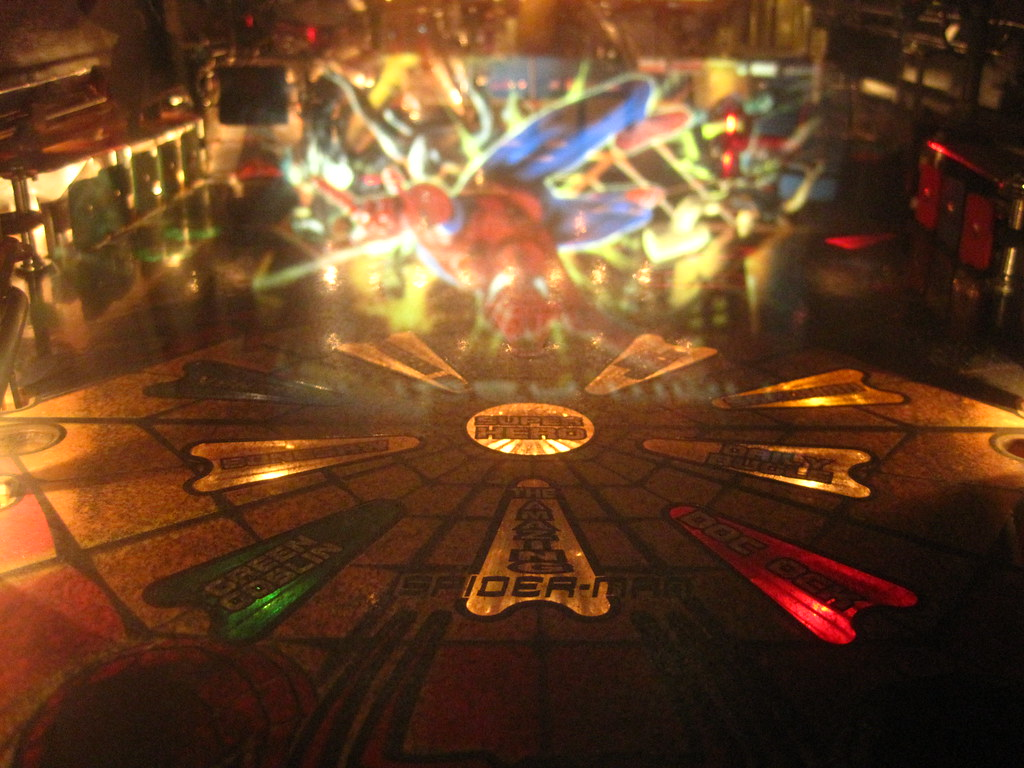 spidey pinball machine
