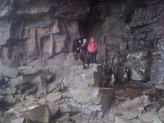 Kids on Rocks in Keown Falls Cave
