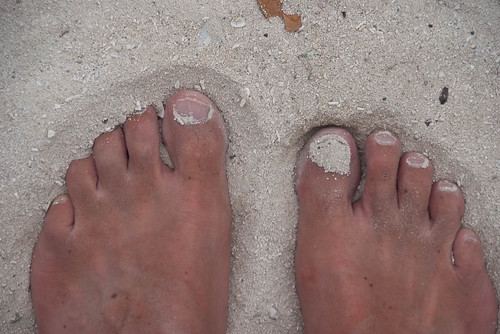 Toes in the White Sand at Long Key State Park