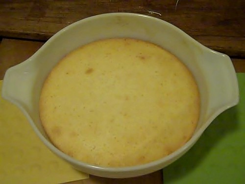 Finished Yuzu Lemon Cake Pudding