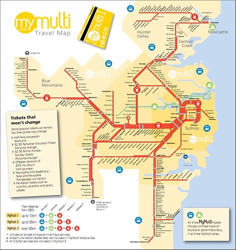 Sydney's new Multi fare zones