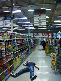 "Supermarket middle aisles-- ""the morgue"""