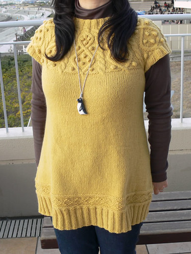 Aran round-yoke dress 1