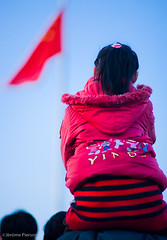 The Chinese Dream (Jrme Pierson) Tags: china girl flag sony chinese beijing dream 85mm national   patriot fille chine drapeau chinoise   motherland a900