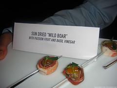 Sun Dried Wild Boar w/ Passion Fruit 7 Basil Vinegar @ Sky HD LOST Launch