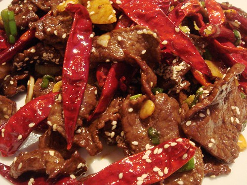 Beef Slices in Hot Chilli