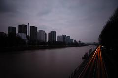 (Albert78000) Tags: road paris france seine clouds river dark lights nikon long exposure darkness dusk rivire route exposition d200 nuages crpuscule lumires obscurit obscur longue sigma1020 nd1000 nd110 albert92 albertcortel