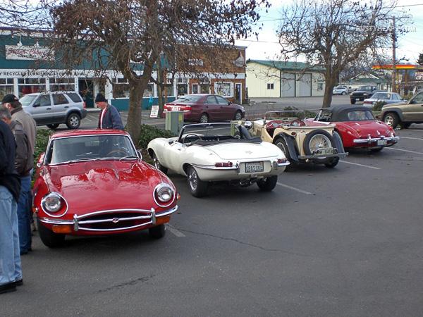 1969 Jaguar E-Type, 1967 Jaguar E-Type, MG TC, Austin Healey 3000