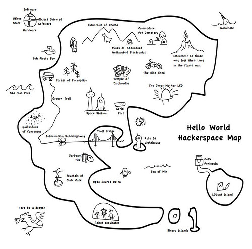 Hello World Hackerspace Map