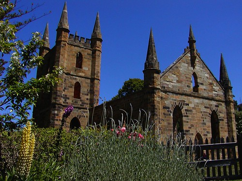 Old church, Port Arthur, Tasmania (Van Diemen's Land)