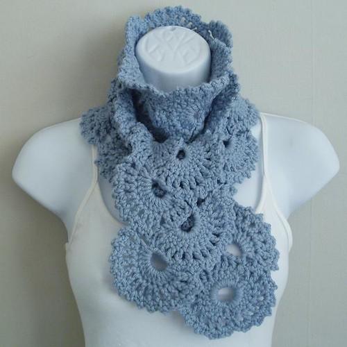 Free Crochet Pattern 40652-2 Lacy Scarf : Lion Brand Yarn Company