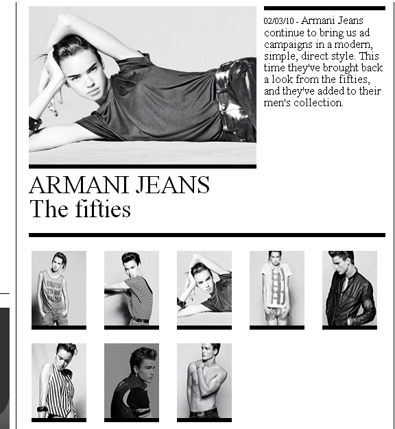 armani jeans the fiftics