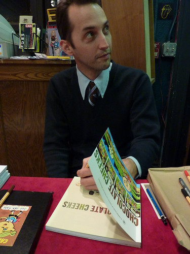 Chocolate Cheeks book signing - Steven Weissman at Fantagraphics Bookstore & Gallery, Feb. 6, 2010