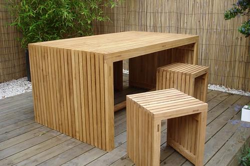Oak strip garden furniture 1