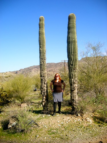 Me at South Mountain with Saguaros