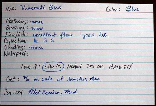 Vis Blue Card