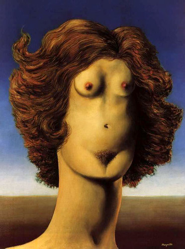 Rene Magritte. The Rape by lilikk