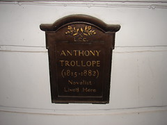 Photo of Anthony Trollope black plaque