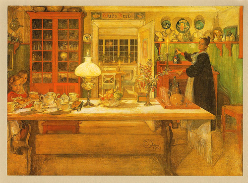 Carl Larsson 'Getting Ready For A Game'