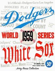 1959 World Series Program (Jerry Reuss Collection) Tags: jerryreuss losangelesdodgers mlb worldseries worldseriesprograms omot