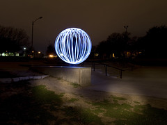 back grind (TTYL8R) Tags: park lightpainting colors austin exposure texas district orb led skatepark davis mable lapp lightorb