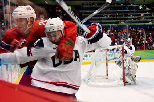 USA - Norway Olympic Hockey Game