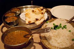 Vegetable thali.