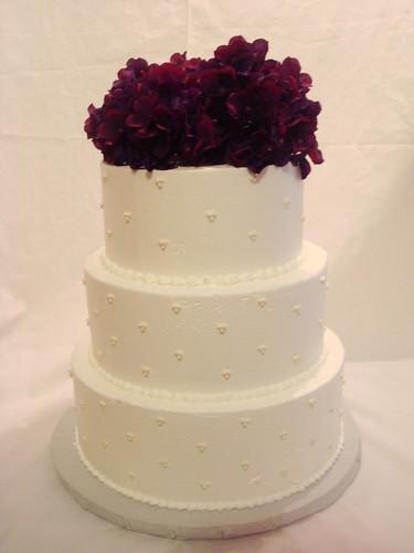 Simple White Wedding Cake | Austin Cake Studio