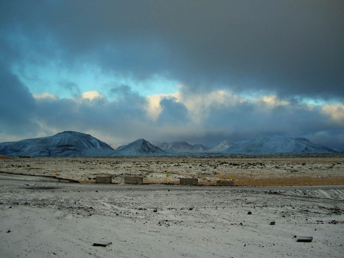 Landscape surrounding Hellisheiði Power Station, Hengill, Iceland