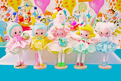 1950's Birthday Girls! (boopsie.daisy) Tags: birthday party color cute colors cake japan vintage pose balloons fun colorful dolls sweet handmade ooak pastel batch clown inspired celebration gifts presents pastels festivity dollies boopsiedaisy